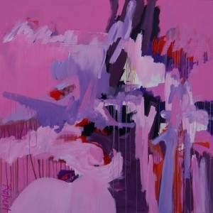 schilderij, robert, pennekamp, robert pennekamp, canvas, kickboksmat, abstract, figuratief
